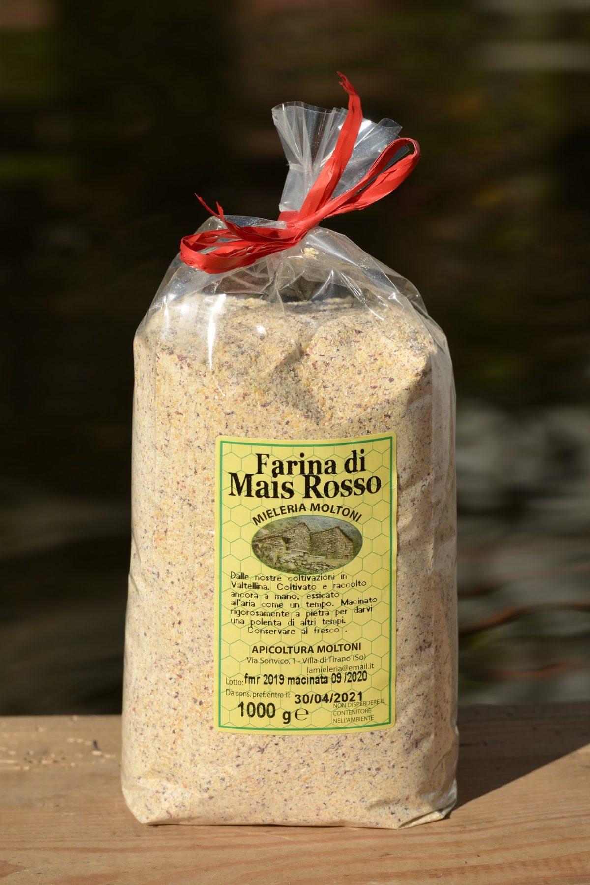 farina di mais rosso
